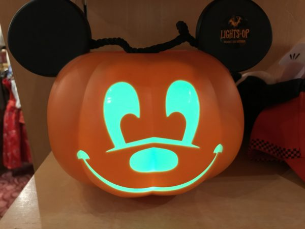 This Mickey jack-o-lantern glows and cycles through different colors.