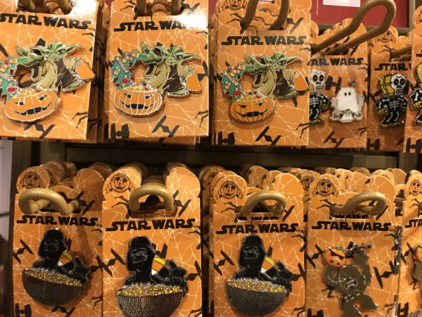 There are plenty of Halloween trading pins with Star Wars characters.
