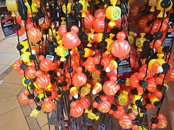 Light up necklace includes Mickey head pumpkins and candy corn for $15.96.
