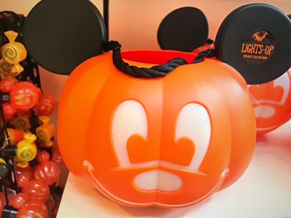 This light-up Mickey candy-collecting jack-o-lantern is $19.99.