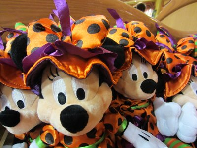 Minnie Mouse is decked out in her best Halloween attire.