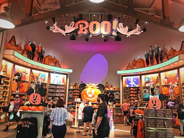 Welcome to the Halloween room in the World of Disney store!