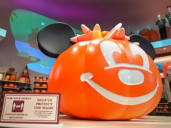 This Mickey pumpkin, for display purposes only, is huge!