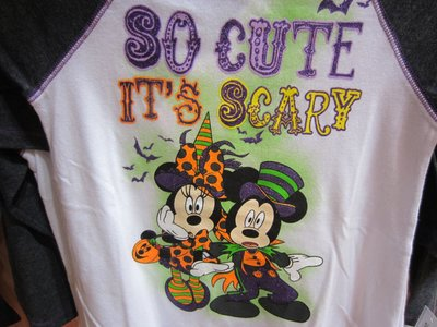 Fun Halloween t-shirt featuring Mickey and Minnie.