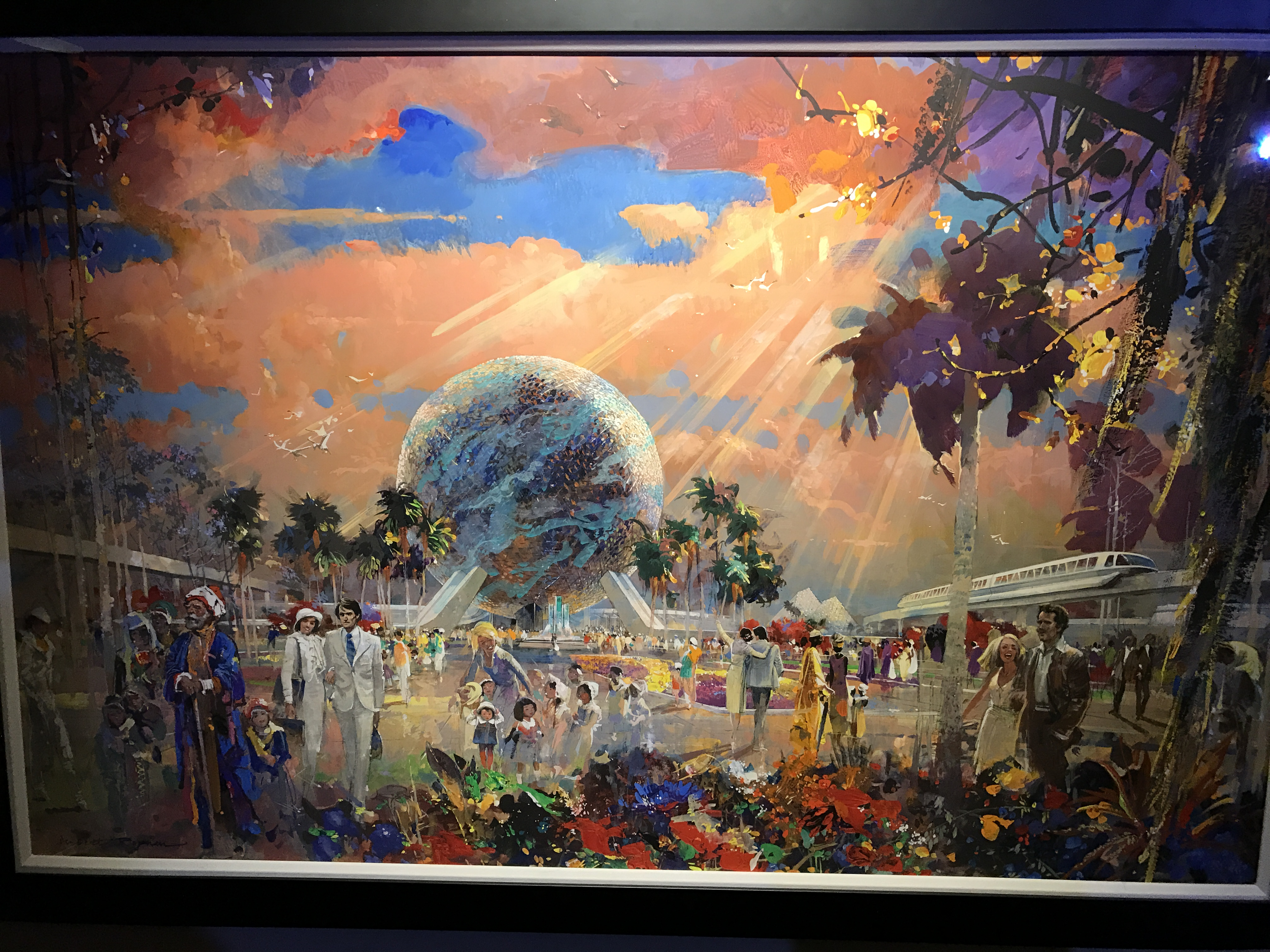 Another take on the Epcot entrance plaza.