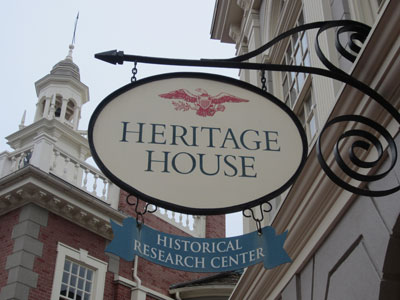 Heritage House was in the shadow of the Hall of Presidents.