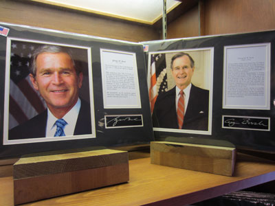 Heritage House sold information boards about the US Presidents.