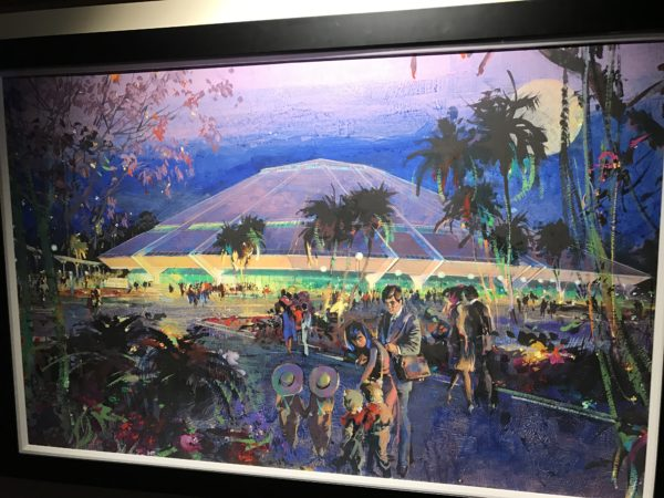 This Horizons concept art by Herbert Ryman was on display at the Epcot International Festival of the Arts 2017.