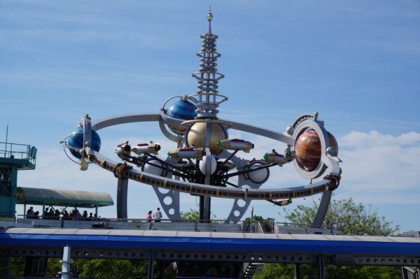 Astro Orbiter has a prominent location in Tomorrowland.