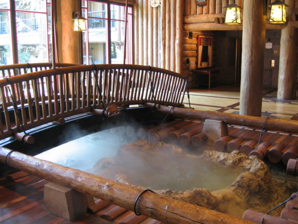Continuing the Lodge's authenticity, the hot springs was inspired by the Metolious River!