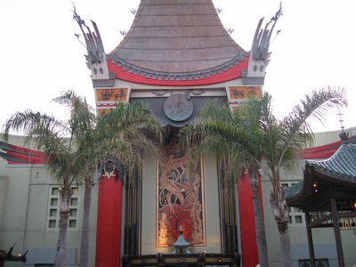 The Chinese Theater fit the style and era of the park.