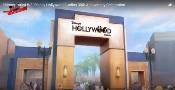 New new logo for Disney's Hollywood Studios. Photo credits (C) Disney Enterprises, Inc. All Rights Reserved; image from Youtube via the Disney Parks Blog.