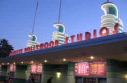 Disney's Hollywood Studios at night.