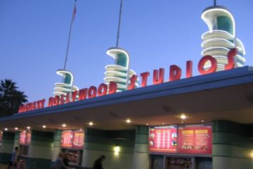 Disney's Hollywood Studios at night.