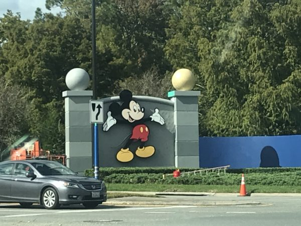 The gray wall behind Mickey may be temporary, but he seems to like the new paint colors!