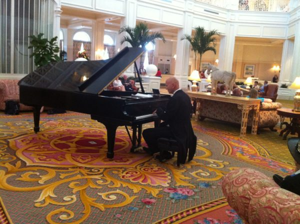 Find a seat in the Grand Floridian lobby and be serenaded by the pianist.