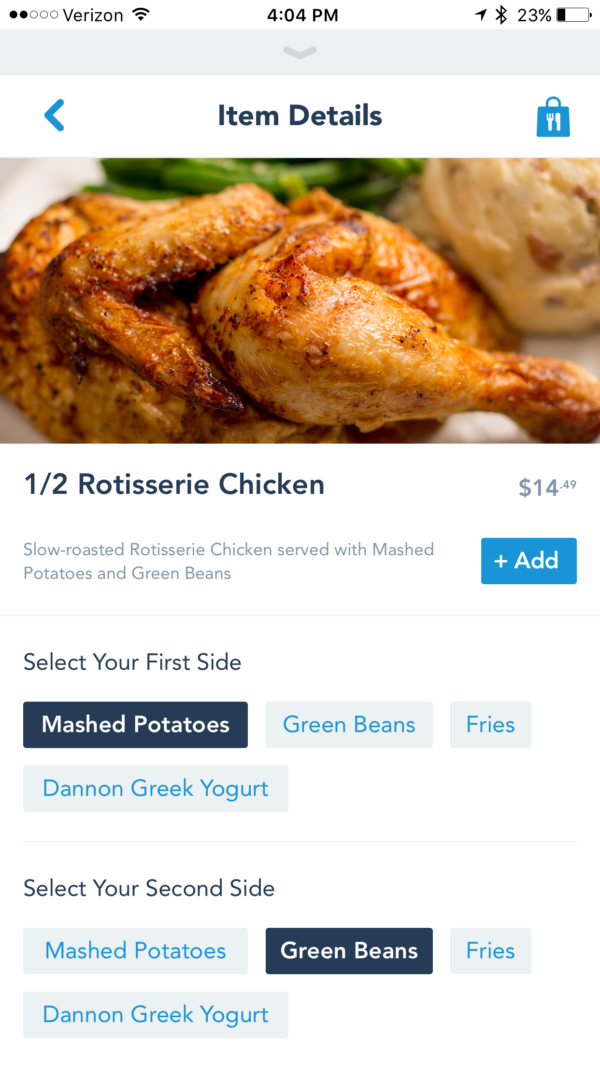 Add each meal to your cart after you've made your selections.