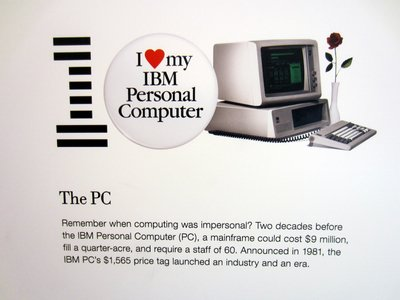Sign recount the history of IBM products an innovations. Remember the original IBM PC?