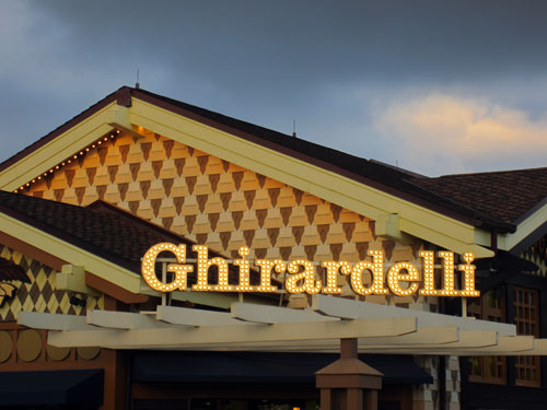 Ghirardelli ice cream - it's goooood.