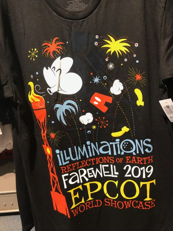 Mickey is blowing out the torches on this black t-shirt for $26.99.
