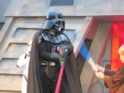 Sign up early to get your chance to fight Darth Vader.
