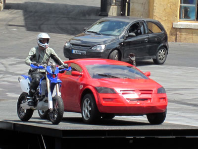 One lucky guest gets to participate in the stunt show.