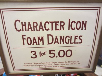 You get three danglers for $5.85.