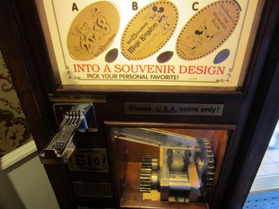 This machine will create a souvenir in a number of different design options.