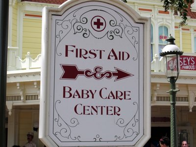 Disney is very used to dealing with kids.  Take advantage of the services they offer, like Baby Care Centers.