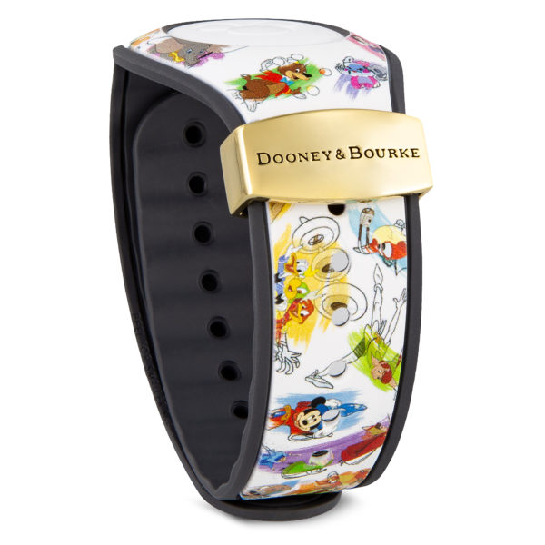 Unique and fun Ink & Paint Magic Band 2 limited edition by Dooney & Bourkewill look fabulous on your wrist . Price $48.00. Photo credits (C) Disney Enterprises, Inc. All Rights Reserved