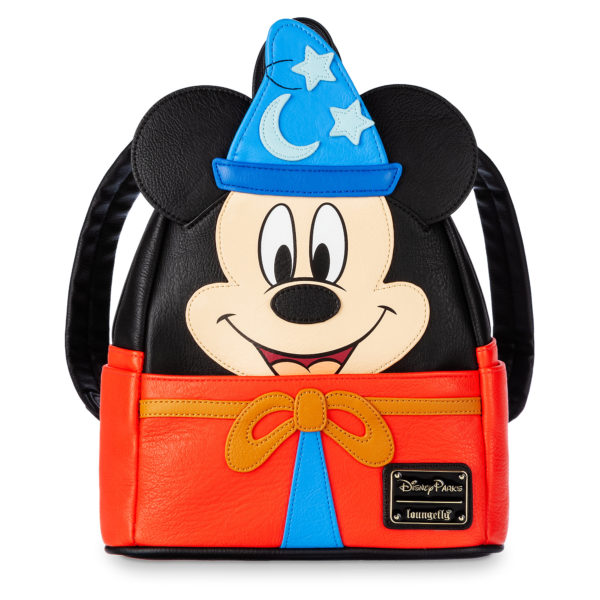 This Sorcerer Mickey Backpack by Loungefly is sure to be a hit at the bus stop!. Price: $80 Photo credits (C) Disney Enterprises, Inc. All Rights Reserved