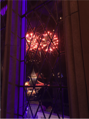 The view of the fireworks from inside Cinderella Castle is amazing!