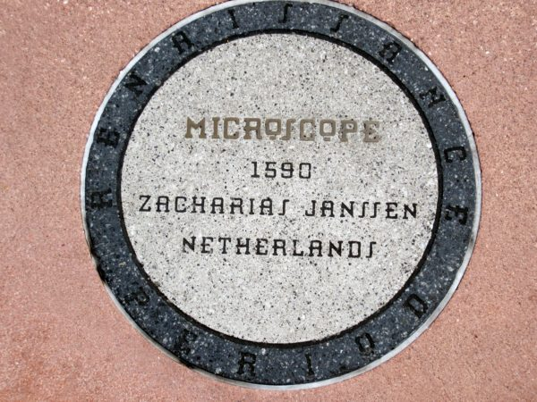 The Microscope is credited to Zacharias Janssen in 1590, but there's much debate over who actually invented it. Micro means small and scope means to look or to see, so a microscope is used to look at things that would be too small to see with the naked eye. We still use microscopes for this purpose today.