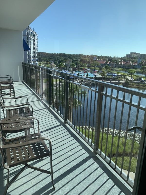 This balcony is large enough for everyone and is a great place to watch the fireworks depending on what your view is!