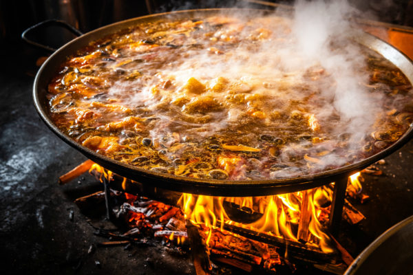 Jaleo makes wood-fired paella. Doesn't it look beautiful and delicious?