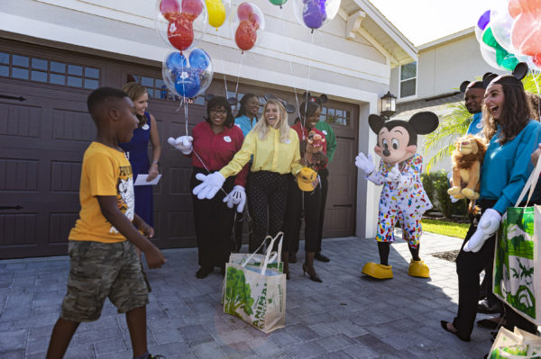 Jermaine Bell gets the surprise of a lifetime when Mickey Mouse shows up at his birthday party. Photo credits (C) Disney Enterprises, Inc. All Rights Reserved