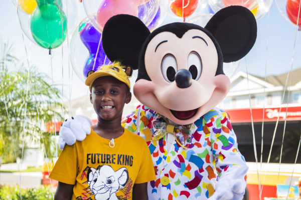Jermaine used money he'd saved for a Walt Disney World vacation to feed people fleeing Hurricane Dorian. Photo credits (C) Disney Enterprises, Inc. All Rights Reserved