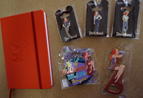 Win four pins, a bottle opener, and an Imagineering notebook.