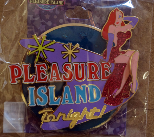Jessica Rabbit at Pleasure Island trading pin.