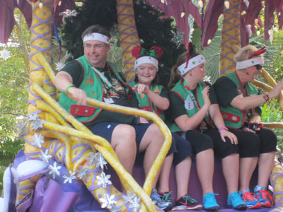 Visiting families who ride in the parade get a mini-Christmas overhaul.