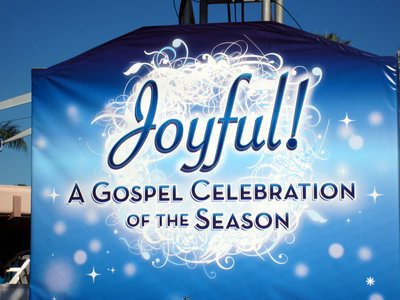 Joyful! features a live band and some very talented singers.