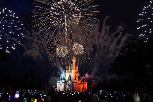 The 2014 edition of DIsney's Independence Day Celebration fireworks.