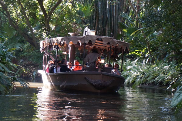 The water in Jungle Cruise isn't quite as dirty as it looks.