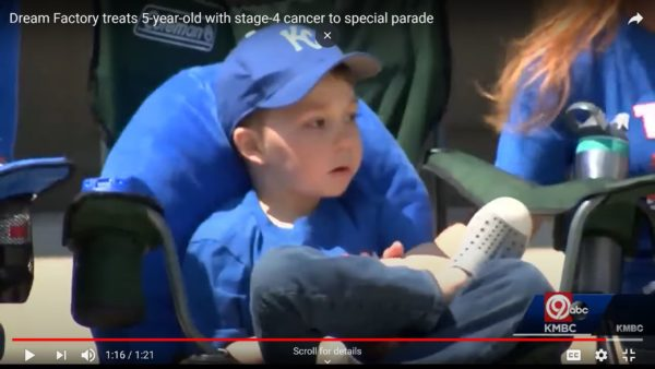 The Kansas City community help Hudson's Disney World dream trip come true in a different way. Photo credits (C) from Youtube and KMBC ABC 9. All Rights Reserved