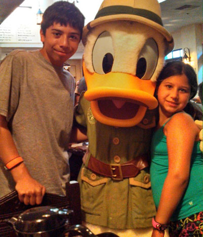 Karen's family seemed to enjoy NextGen - and Donald Duck!