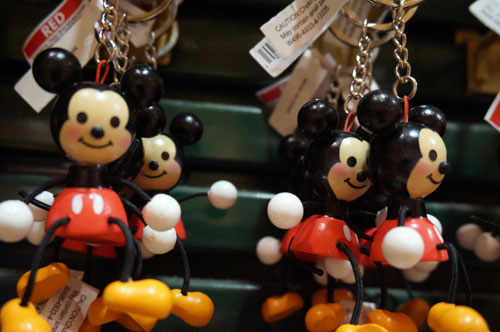 Wood and rope Mickey Mouse.