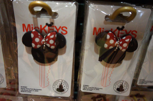 It's not a key chain, but a key topper.  I like the name: MicKEYS.