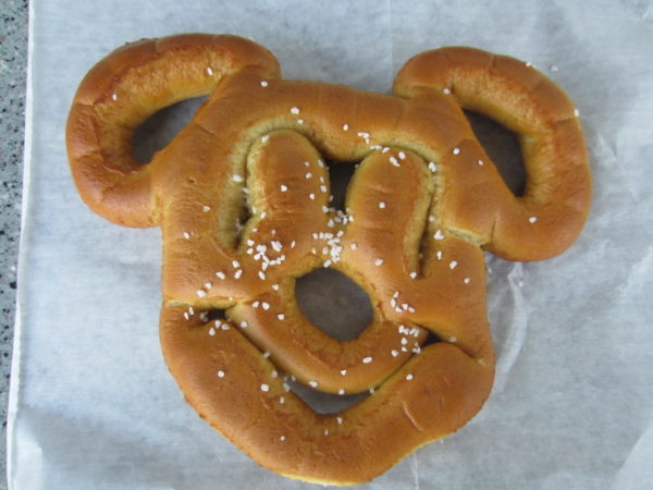 The Mickey Pretzels, whether cream cheese stuffed or not, are pretty tasty!