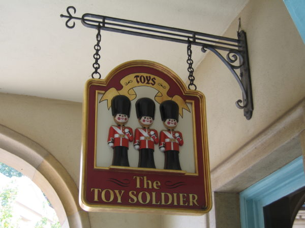 Some Kidcots are inside gift shops like the one in The Toy Soldier at United Kingdom.