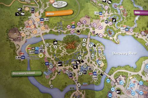 Disney parks are huge places. Make sure your kids can navigate with a map.